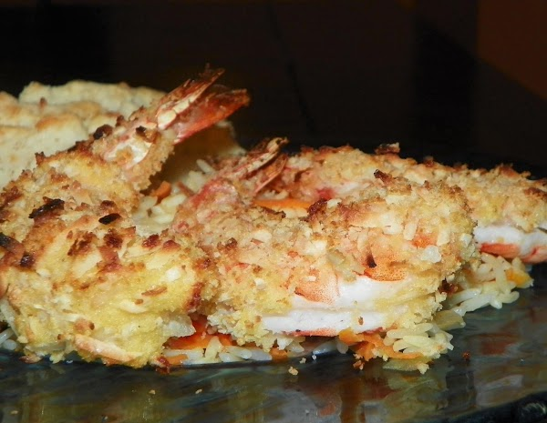Baked Coconut Shrimp With Tropical Rice Recipe