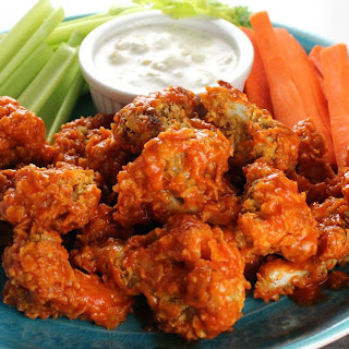 Crispy Buffalo Cauliflower.