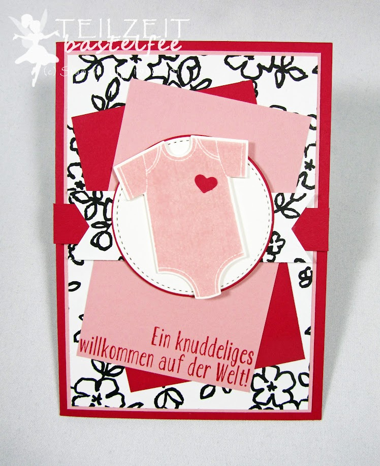 Stampin' Up! - Inkspire_me Sketch Challenge, Baby Girl, Geburt Mädchen, Unentbärliche Grüße, Baby Bear, Something for Baby