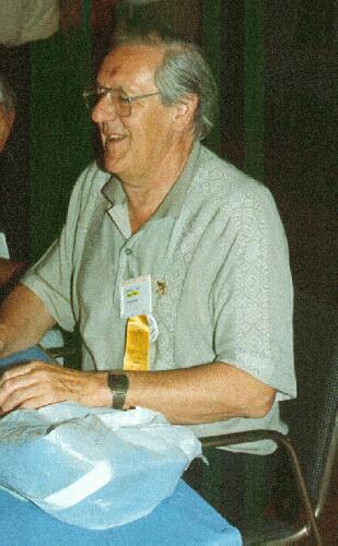 Brian Aldiss en la WorldCon de 1990