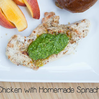 Grilled Chicken with Spinach Pesto