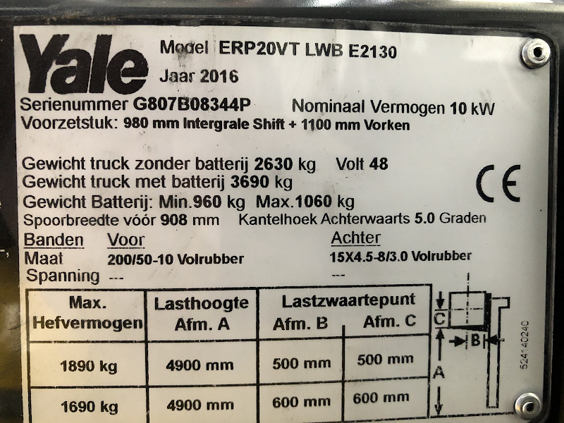 Picture of a YALE ERP20VT