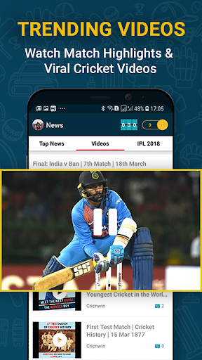 Cricnwin: Live Cricket Scores ,Play,Chat with Fans 5.31 screenshots 7