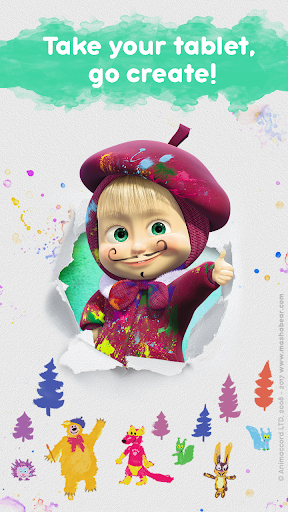 Masha and the Bear: Free Coloring Pages for Kids 1.0.3 screenshots 6
