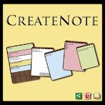 CreateNote: Notes, Alarm, Colors, Text to Speech Icon