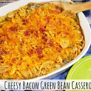 Cheesy Bacon Green Bean Casserole.