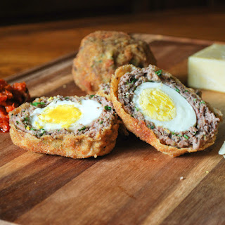 Indian spiced Scotch Eggs.