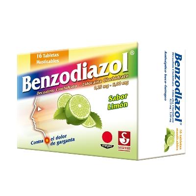 Dequalinio + Lidocaina Benzodiazol Limon 0,25/5Mg x16 Tabletas Meyer
