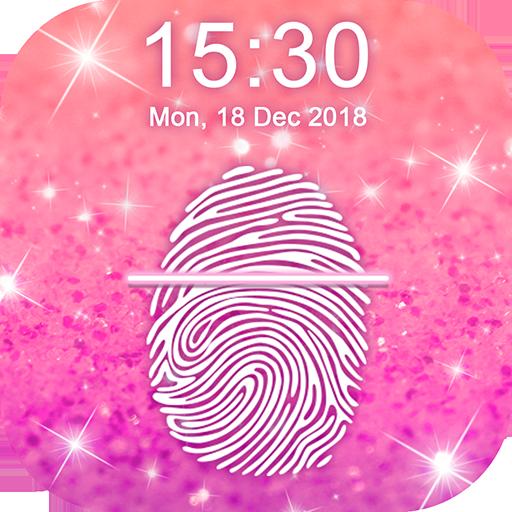 Glitter Fingerprint Lock Screen Simulator Icon