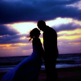 Sunset by Brenda Shoemake - Wedding Bride & Groom (  )