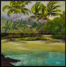 """Photo: """"Oceanside Reflections"""" - Kukio Beach - 2 panels 16"""" x 8"""" each (available from artist)"""