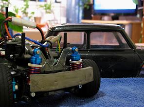 Photo: Yeah Racingin iskarit ja 3Racingin alumiiniset ohjauspalat.
