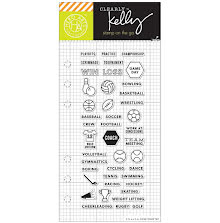 Hero Arts Kelly Purkey Clear Stamps 2.5X6 - Sports Planner UTGÅENDE