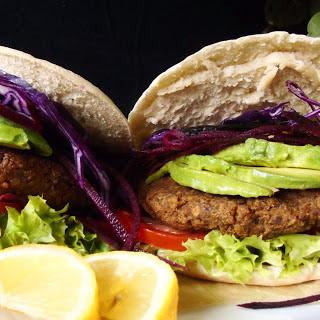 Chickpea Mushroom Pita Burgers [Vegan, Gluten-Free]