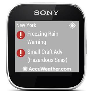 AccuWeather - Sony SmartWatch screenshot 8