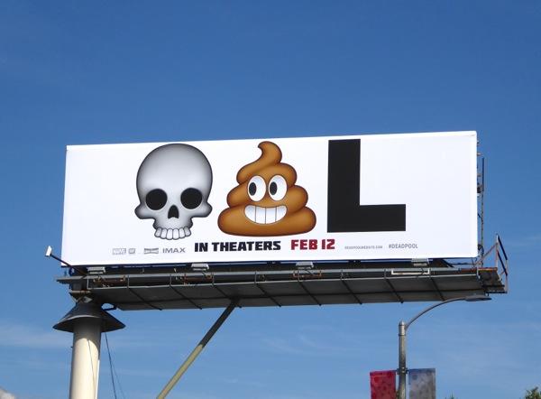 Deadpool emoji-led billboard ad