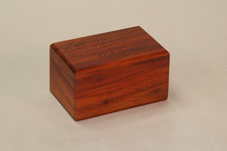 Photo: Peta's first was a this ring box gift New Guinea Rosewood