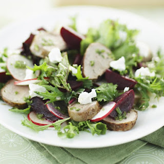 Pork, Beet and Goat Cheese Salad.