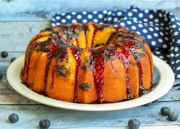 Jamie's Blueberry Bundt Cake With Sauce
