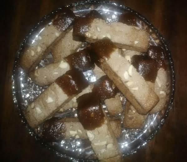 Spiced Pumpkin Biscotti Dipped In Pumpkin Caramel
