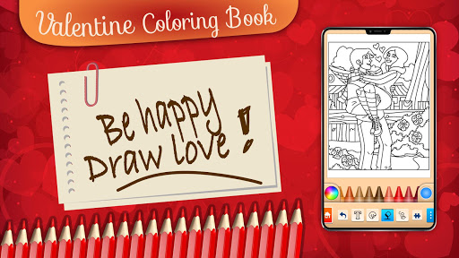 Valentines love coloring book filehippodl screenshot 23
