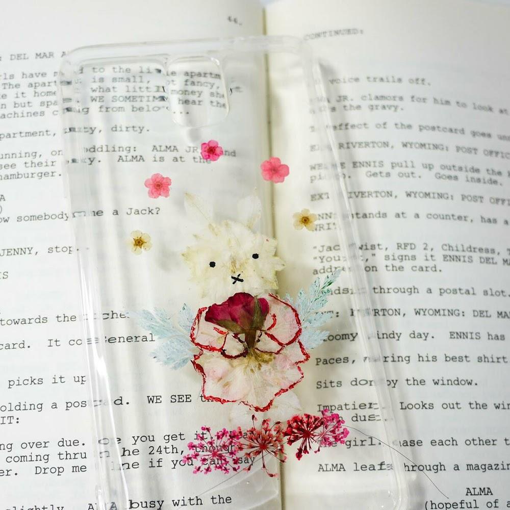 [訂製/custom-made] Miffy Pressed Flower Phone Case