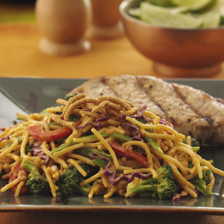 Crunchy Salad With Chow Mein Noodles Recipes.