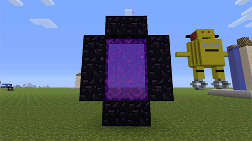 how to use a nether portal in minecraft pe