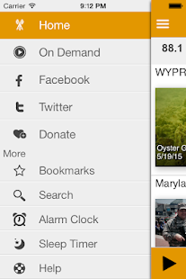 WYPR Public Radio App- screenshot thumbnail