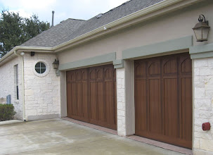 Photo: Wood Free Door  16 x 7 and 8 x 7 on a Double Steel AMARR insulated Door. Qualifies for 2010 energy Tax Credit.
