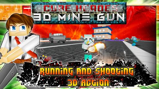 Cube Heroes 3D Mine Gun