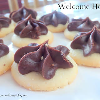Butter Cream Cookies With Chocolate Fudge Icing.