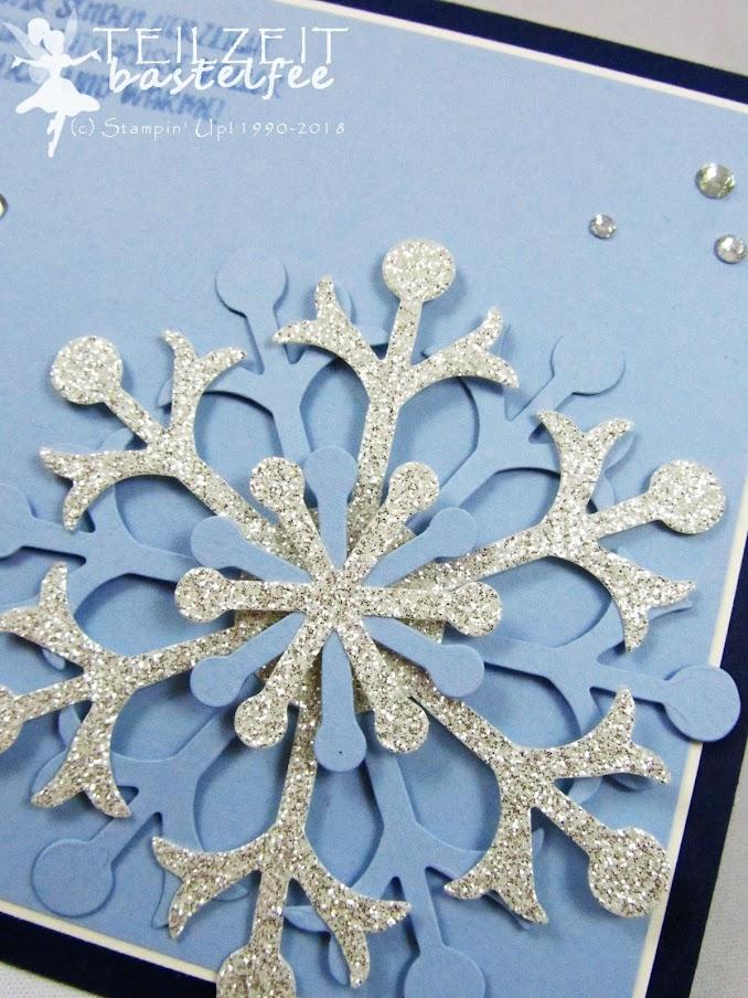 Stampin' Up! - Inkspire_me, Christmas Challenge, Weihnachten, Schneeflocke, Snow Flake, Ausgestochen Weihnachtlich, Cookie Cutter Christmas, Blue, Blau
