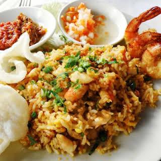 Fiery Shrimp Fried Rice.