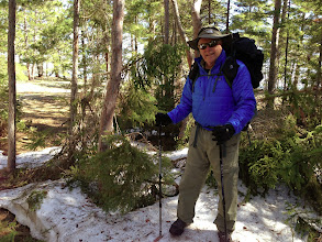 Photo: Doug standing on the same patch of snow.