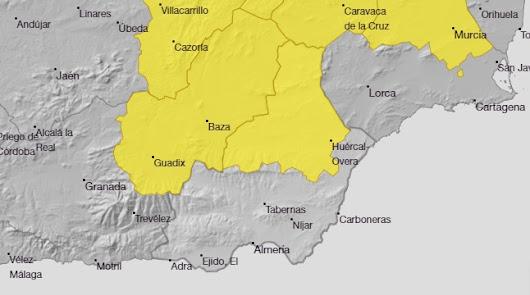 Aviso amarillo en la provincia por tormentas para este martes