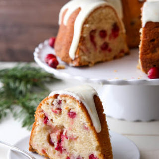 Cranberry Orange Cream Cheese Pound Cake.