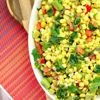 Corn, Tomato and Avocado Salad with Cilantro Vinaigrette