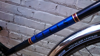 Photo: More of Jason's remarkable paintwork on this downtube panel, all the graphics are paint, no decals at all!