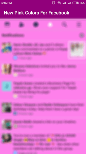 New Pink Colour For Facebook 1.0 screenshots 4