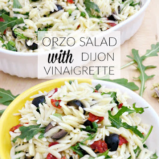 ORZO SALAD WITH DIJON VINAIGRETTE