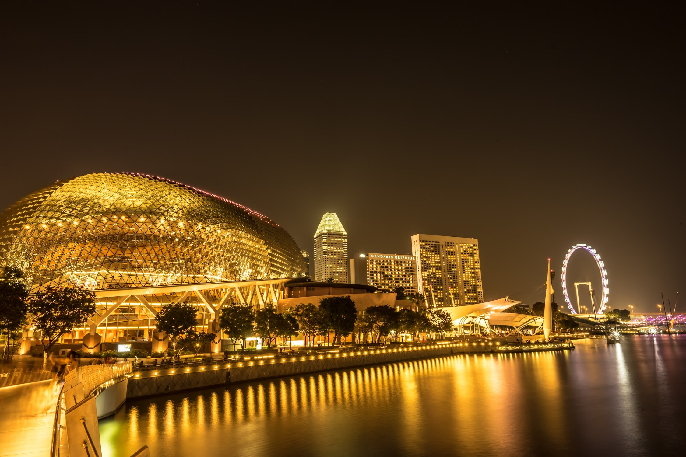 Singapore Esplanade night view1