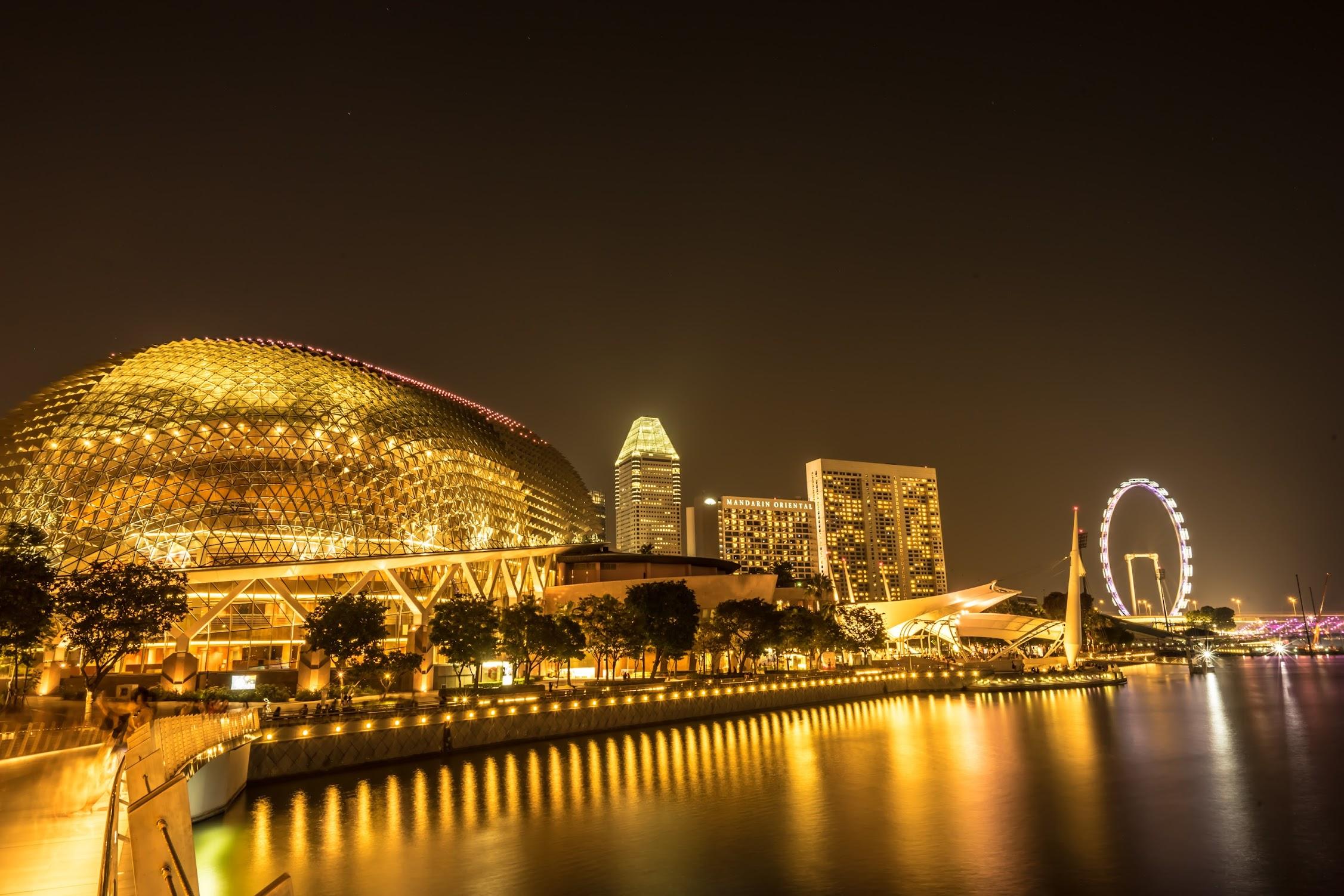 シンガポール エスプラネード 夜景1