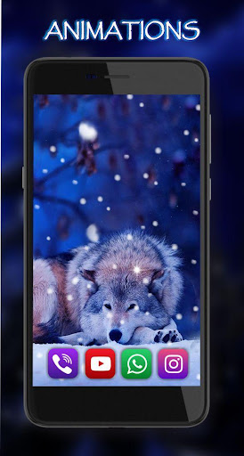 wolves night live wallpaper screenshot 3