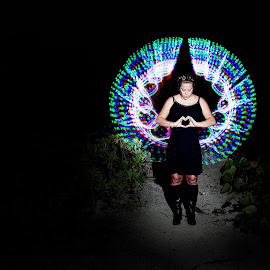 My angel by Hamish Hamilton - Abstract Light Painting ( angel, wings, lady, paint, light )
