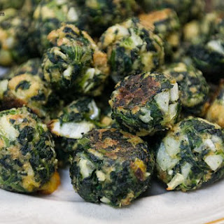 Garlicky Spinach Balls