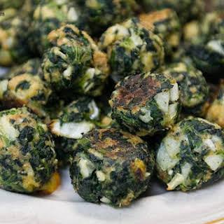 Garlicky Spinach Balls.