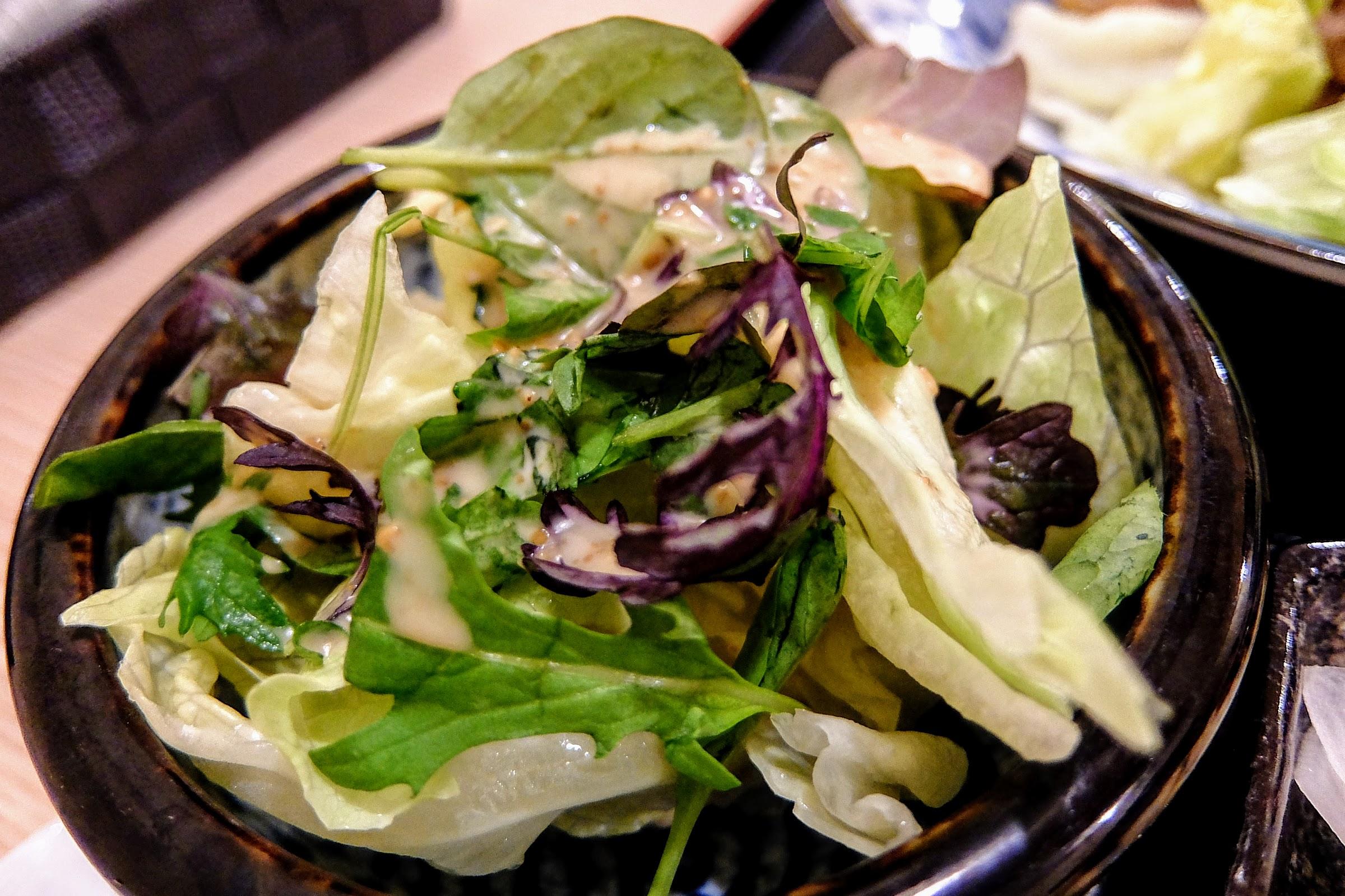 套餐內的生菜沙拉