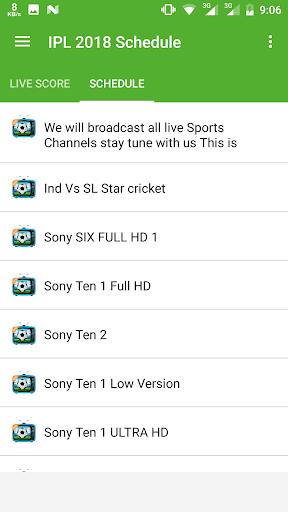 Download Live IPL 2018 TV Schedule Google Play softwares
