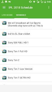 Live IPL 2018 TV Schedule - náhled